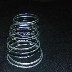 Black and silver bangle bracelet's